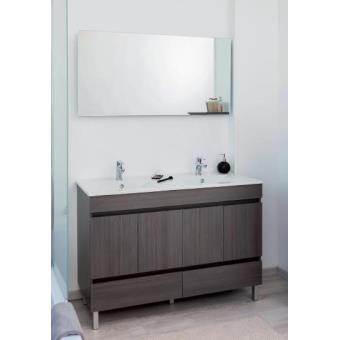 Aqua+ - meuble salle de bain gris foncé chamonix à poser 120cm ...