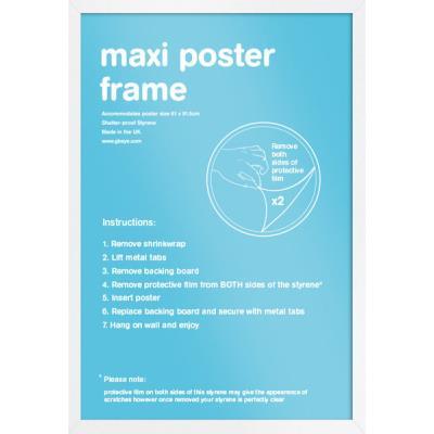 Cadre pour affiches Blanc - Maxi 61x91.5cm - Eton