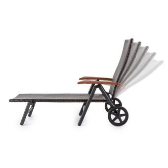 40EUR Sur Blumfeldt Korsika Chaise Longue Pliable Avec Accoudoirs 70x68x200 Cm Rotin Alu