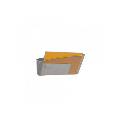 Alba - gamme mesh - corbeille mesh murale magnétique - gris