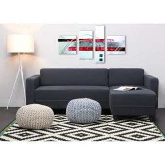 finlandek canap dangle rversible kulma 4 places 205x141x70 cm tissu anthracite achat prix fnac - Achat Canape D Angle
