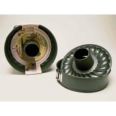 Patisse 2931 moule à manqué charnière antiadhésif double fond acier revêtu gris anthracite 26 cm