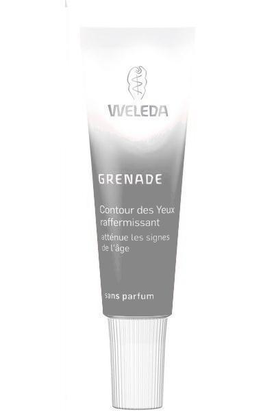 Contour des yeux anti-âge à la grenade, 10 ml de Weleda Soins Régénération activeCette crème, sans parfum, protège la zone très fragile du contour de l'il des agressions extérieures grâce à des anti-oxydants naturels. Il réduit les rides et raffermit tout