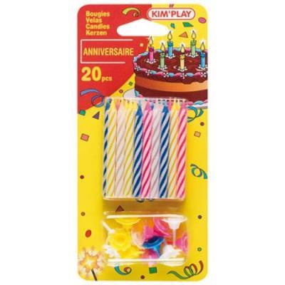 20 Bougies Multicolore - Cofalu - 613 - Décoration