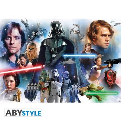Star wars - poster groupe roulé filmé (98x68) abydco305