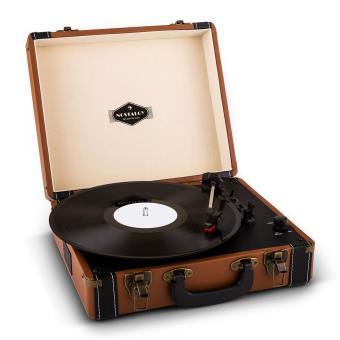 54 sur auna jerry lee platine vinyle look r tro avec num risation par usb marron platine. Black Bedroom Furniture Sets. Home Design Ideas