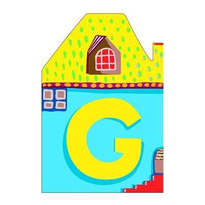 Djeco - Lettre petite maison en bois - G