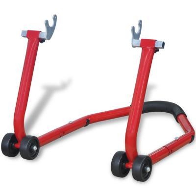 vidaXL Support arrière pour moto Rouge