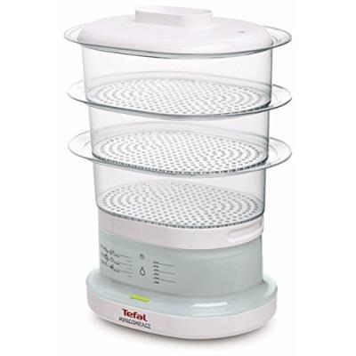 Tefal - vc1301 - cuiseur vapeur électrique, 650 watts, transparent / blanc