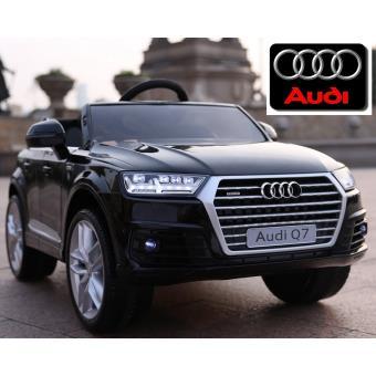 Q7 Enfant Voiture Électrique Roues Noir Audi Gomme Nouvelle 12v ul13KJFcT