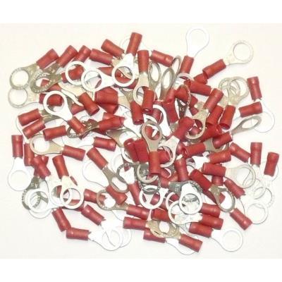 Cosses Electriques A Oeil De 8 Rouges Sachet De 100 Cosses