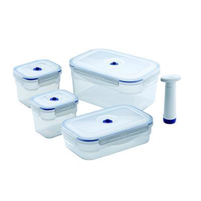 Compactor kitchen acc926 lot de 4 boîtes alimentaires rectangulaire 3,5 l / 1,4 l / 750 ml flavia