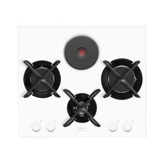 Sauter SPG4465MW Table De Cuisson Gaz Et électrique   Blanc    Vitrocéramique   Achat U0026 Prix | Fnac