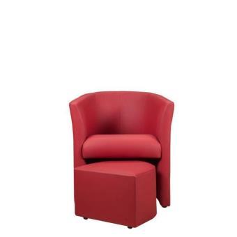 baya fauteuil cabriolet rouge pouf achat prix fnac. Black Bedroom Furniture Sets. Home Design Ideas
