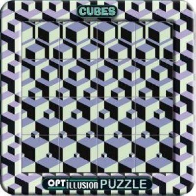 Puzzle magnétique illusion optique 3 D \