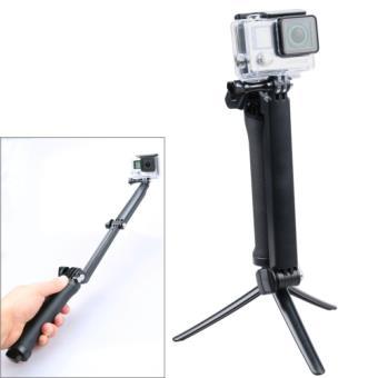 perche t lescopique aluminium pliable avec trepied bras pour gopro appareil photo. Black Bedroom Furniture Sets. Home Design Ideas
