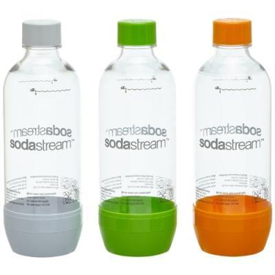 Sodastream 1041340490 lot de 3 bouteilles vides en pet gris
