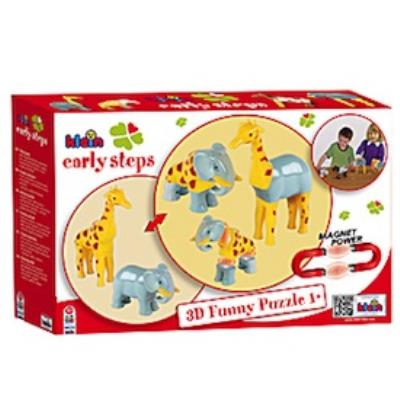 Funny Puzzle Magnetique - Girafe et Elephant