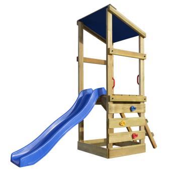 vidaXL Aire de jeux avec échelle et toboggan en bois 260x90x235 cm -  Balançoire   Portique Multi-activités - Achat   prix   fnac 990d5f42b934