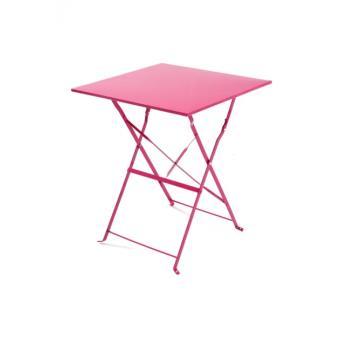 Table bistrot carrée - Rose Framboise - Mobilier de Jardin - Achat ...
