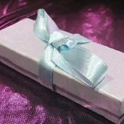 Ecrin 'Satiné Pastel' Bleu Ciel