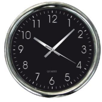 Horloge Murale Silencieuse Design Cadran Noir Pendule Et Horloge