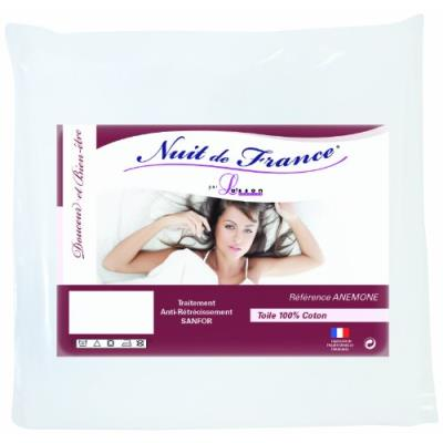 Nuit de france 329369 160 protège traversin coton blanc 160 x 45 x 1 cm