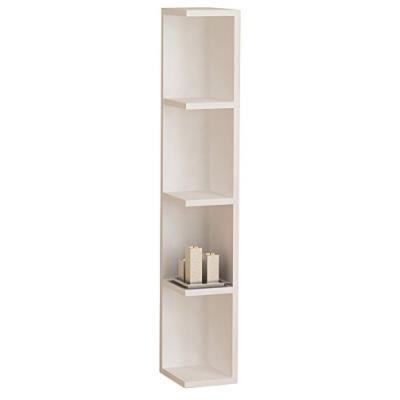 Vcm 902065 honsa stand étagère d'angle bois blanc 97 x 15 x 17 cm