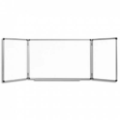 Planning Bi-Office mensuel perpétuel magnétique - Dim. L90 x H60 cm blanc/gris