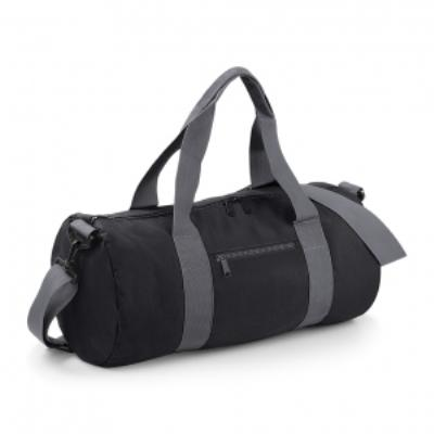 Sac de voyage toile - 20 L - Varsity Barrel Bag - BG140 - noir