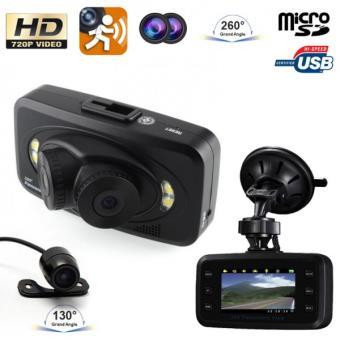 dashcam voiture double objectif boite noire auto hd 720p cam ra recul cam ra et radar de recul. Black Bedroom Furniture Sets. Home Design Ideas