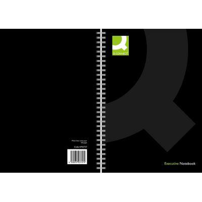 Q Connect A4 à spirale livre – noir
