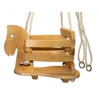 tr s belle balan oire pour les plus petits mod le cheval en bois accessoire portique. Black Bedroom Furniture Sets. Home Design Ideas
