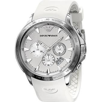 montre armani blanche