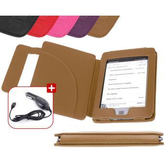 DURAGADGET - étui cuir marron style livre pour Kindle TOUCH + chargeur  voiture - Accessoires eBook - Achat   prix   fnac bd016c8fed41