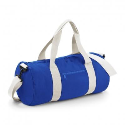 Sac de voyage toile - 20 L - Varsity Barrel Bag - BG140 - bleu roi
