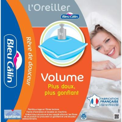 BLEU CALIN Oreiller Volume 45x70cm