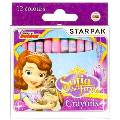 12 crayon gras Princesse Sofia Disney
