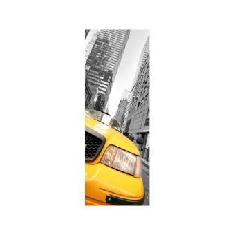 Papier Peint Le Unique Taxi New York Lgd01 Jaune Decoration Des