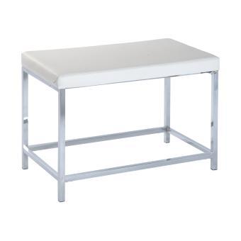 Tabouret de salle de bain deluxe long, white - blanc/chrome