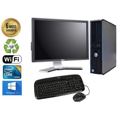 Unite Centrale Dell 780 SFF Core 2 Duo E7500 2,93Ghz Mémoire Vive RAM 6GO Disque Dur 500 GO Graveur DVD Windows 10 Wifi - Ecran 20(selon arrivage) - Processeur Core 2 Duo E7500 2,93Ghz RAM 6GO HDD 500 GO Clavier + Souris Fournis