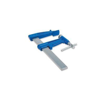 2 serre-joints à pompe 70 cm section 35 x 8 mm saillie de 120 mm et frein antiglissant