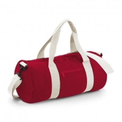 Sac de voyage toile - 20 L - Varsity Barrel Bag - BG140 - rouge