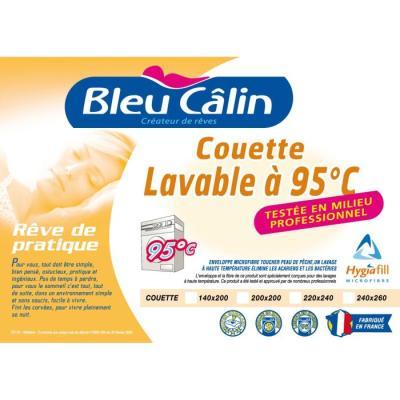 BLEU CALIN Couette Lavable a 95°C 140x200cm