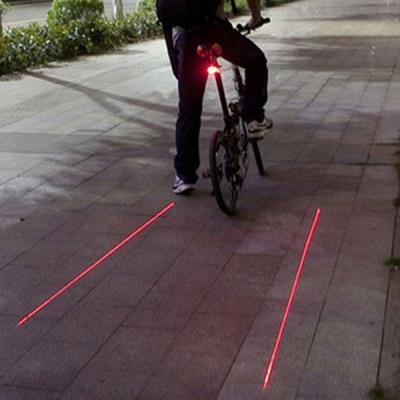 Feux de vélo projection laser de deux bandes piste cyclable