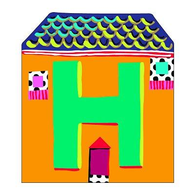 Djeco - Lettre petite maison en bois - H