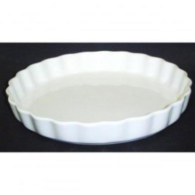 Moule à tarte 27 cm porcelaine blanche 6878