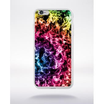 Coque transparente iphone 6 smoke fume arc en ciel