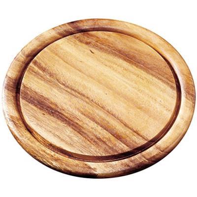 Fackelmann 37754 planche à découper rond bois/acacia beige 25 x 25 x 1,5 cm