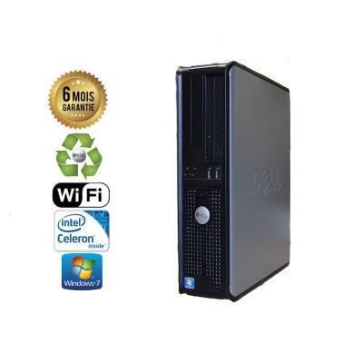 Unite Centrale Dell Optiplex 380 SSF Intel Celeron E3300 2,5Ghz Mémoire Vive RAM 3GO Disque Dur 120Go SSD Graveur DVD Windows 7 Wifi - Processeur Intel Celeron E3300 2,5Ghz RAM 3GO HDD 120Go SSD